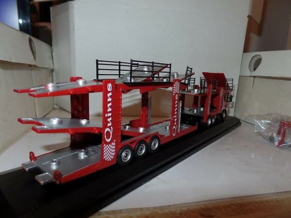 Oxford 76SCT002 SCT002 Scania EVO 6 Car Transporter Quinns  Holds 12 1/76